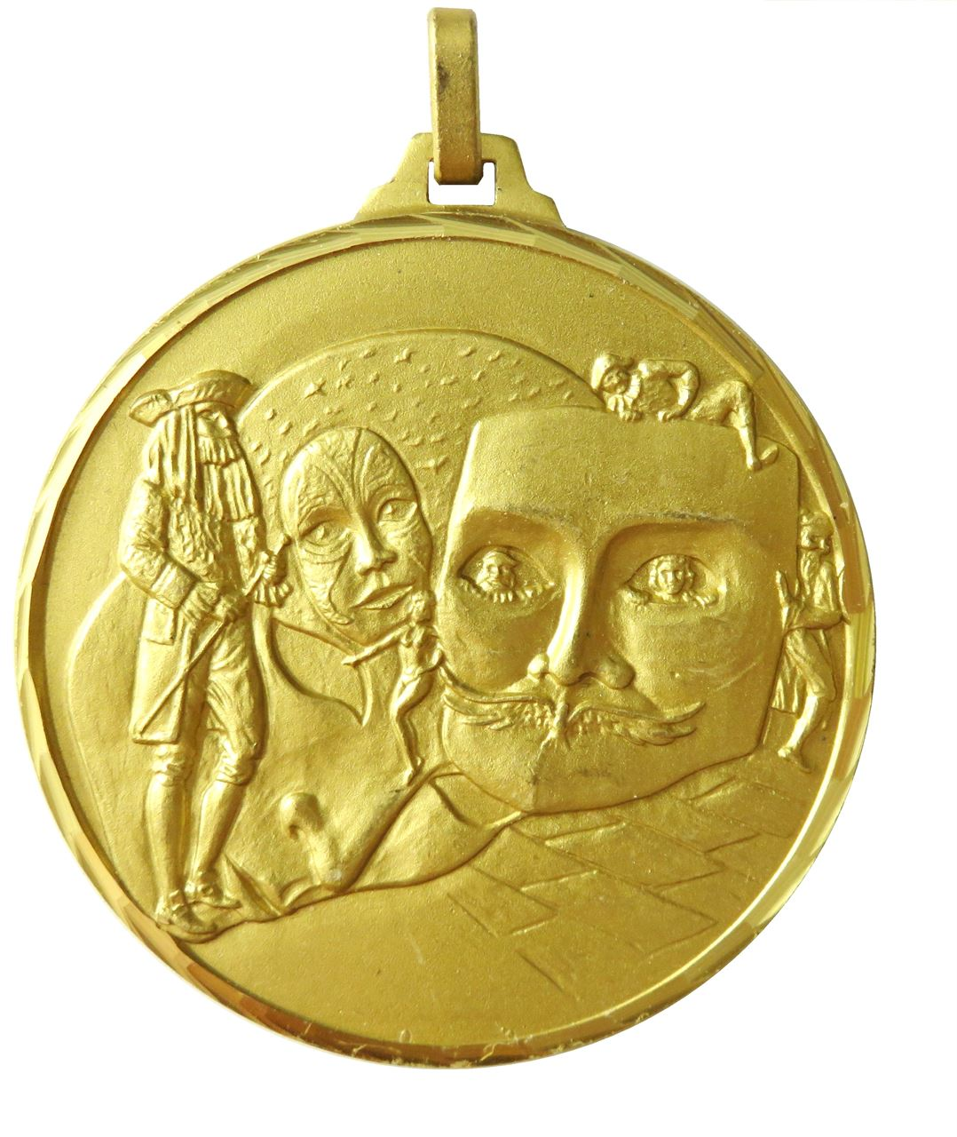 Gold Faceted Drama Medal (size: 52mm) - 234F