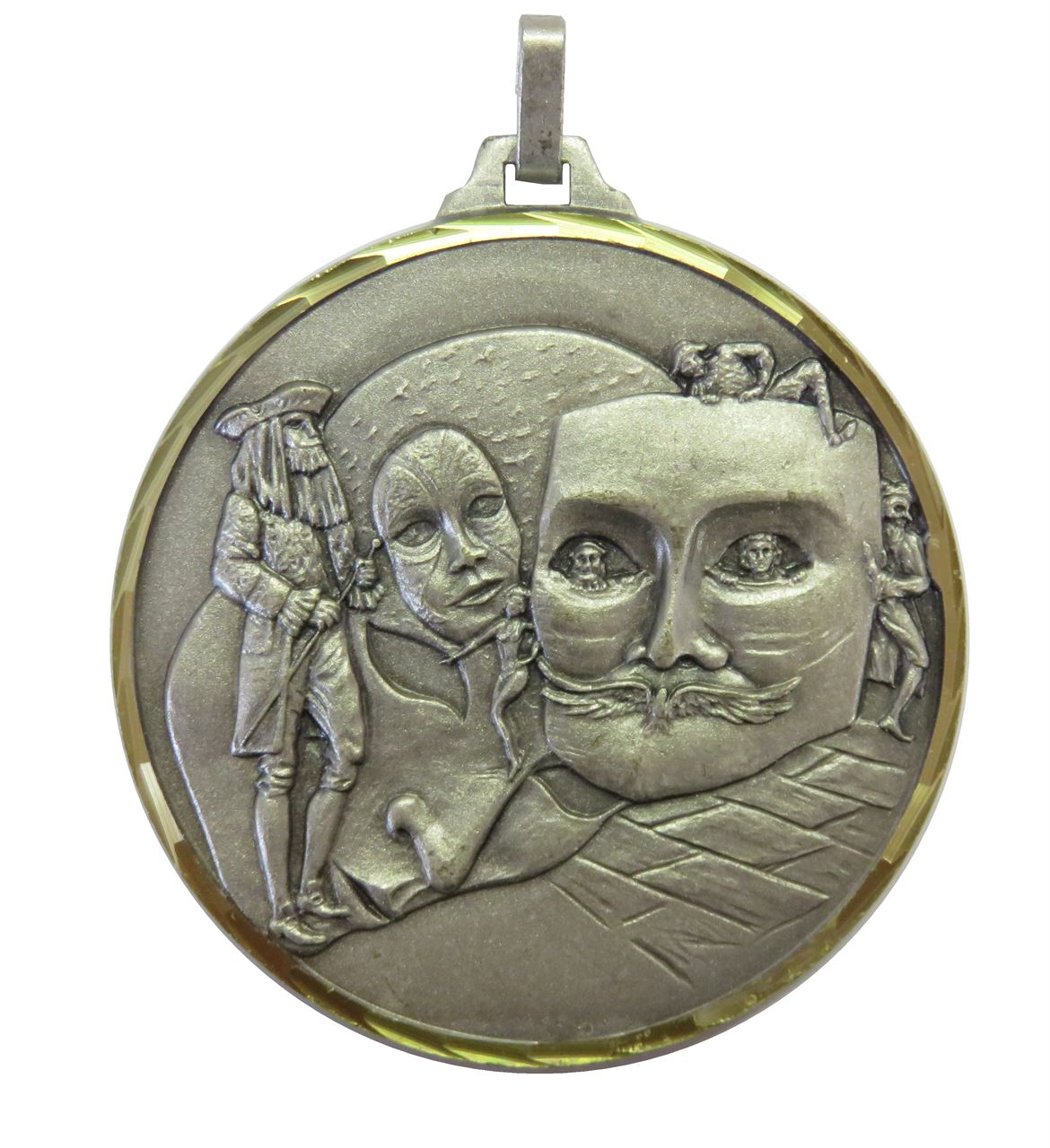 Silver Faceted Drama Medal (size: 52mm) - 234F