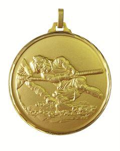 Gold Faceted Tug-O-War Medal (size: 52mm) - 336F