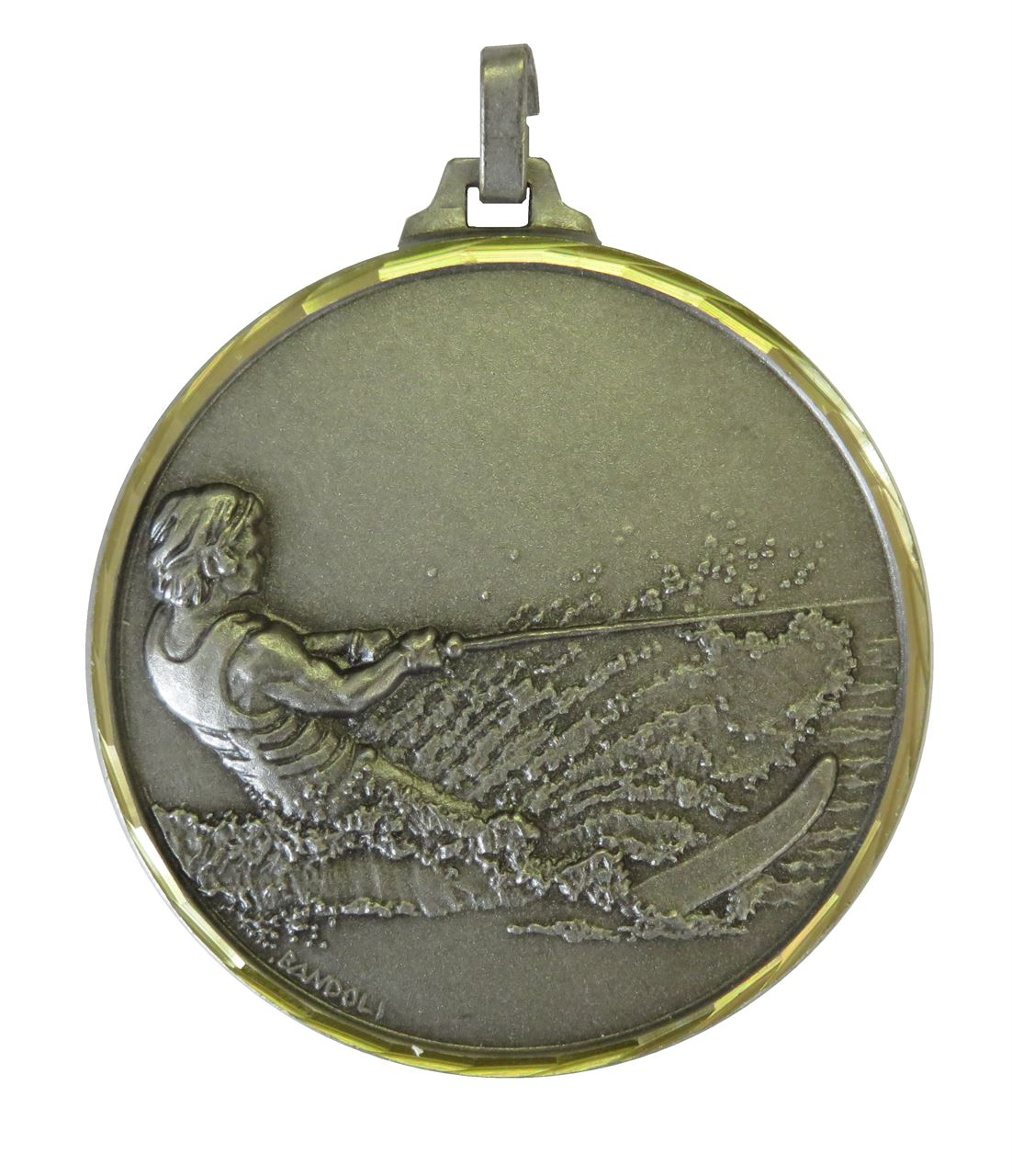Silver Faceted Water Skiing Medal (size: 52mm) - 319F