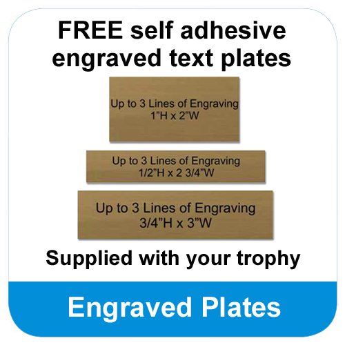 Free engraved text plate for the base of your cup
