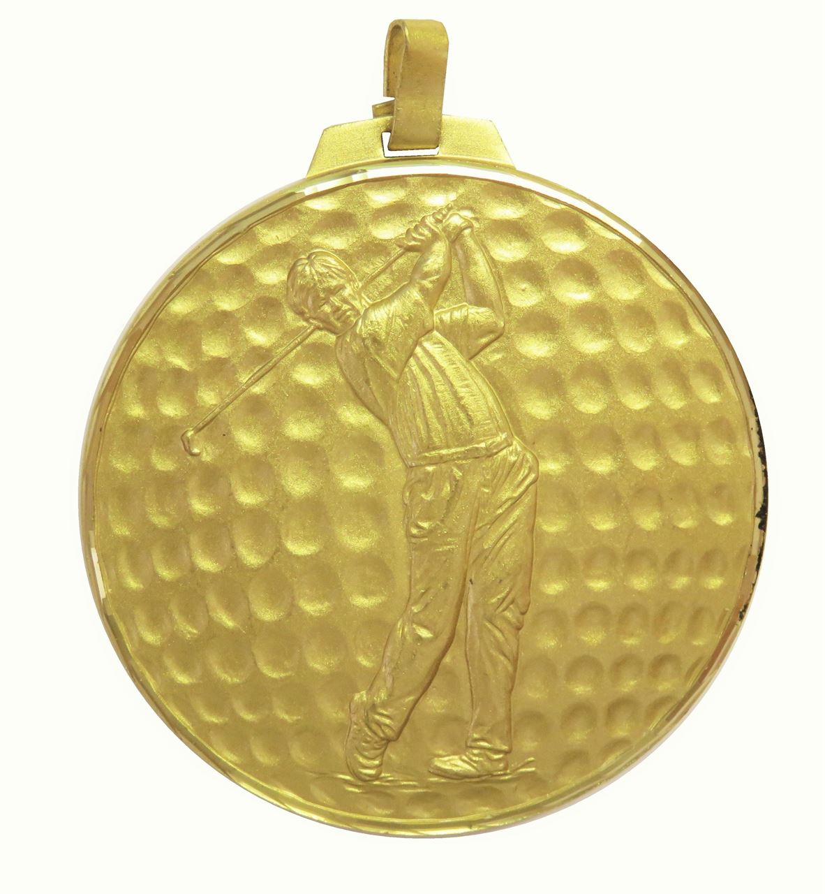 Gold Faceted Male Golf Medal (size: 42mm, 52mm, 60mm and 70mm) - 398F