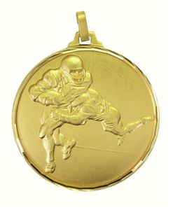 Gold Faceted American Football Medal (size: 52mm) - 282F