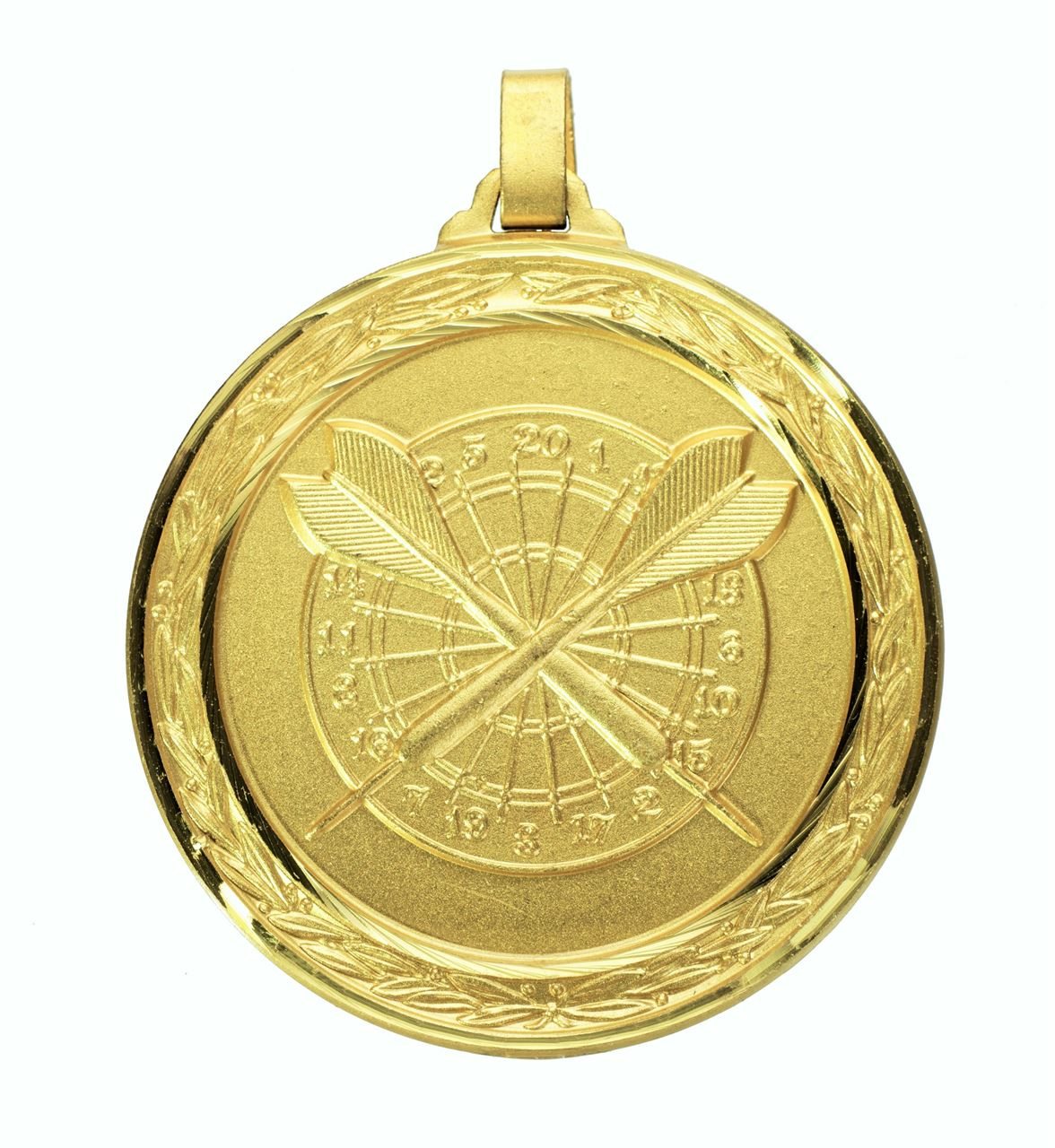 Gold Faceted Darts Medal (size: 60mm) - H38F