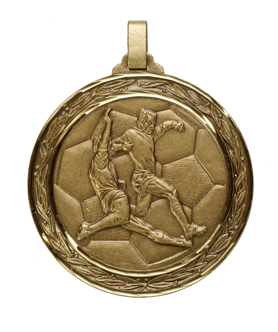 Bronze Faceted Football Medal (size: 60mm) - 176F