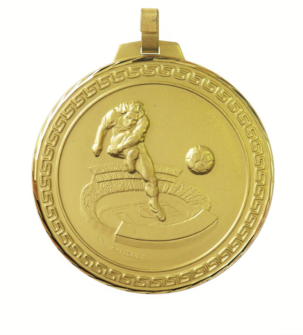 Gold Faceted Football Stadium Medal (size: 70mm) - 177F