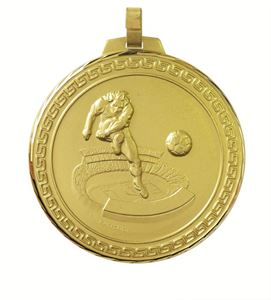 Faceted Football Stadium Medal