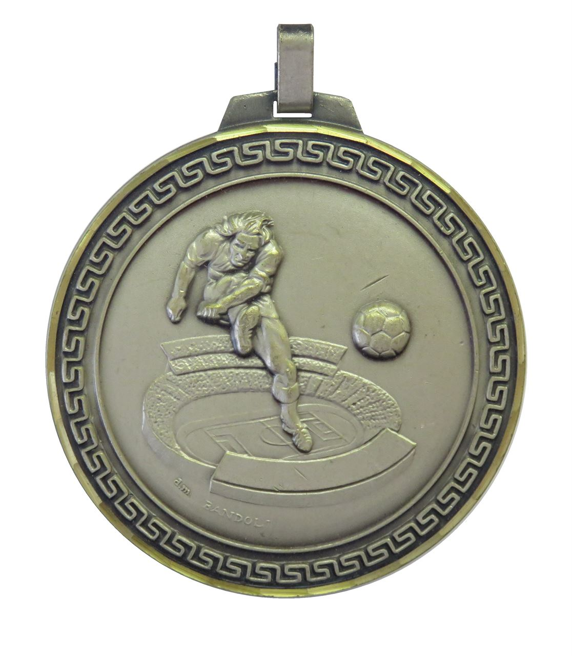 Silver Faceted Football Stadium Medal (size: 70mm) - 177F