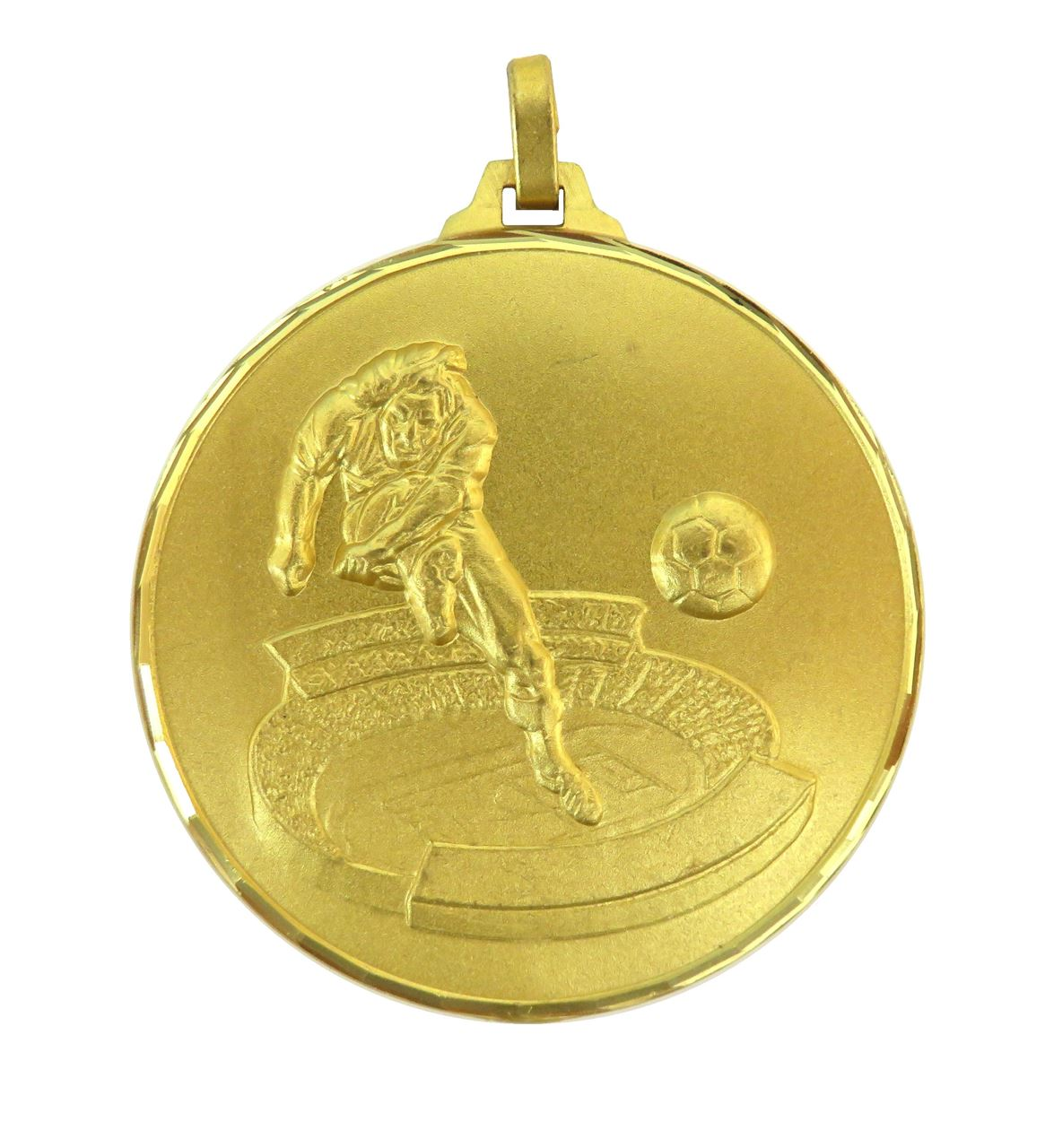 Gold Faceted Football Stadium Medal (size: 42mm and 52mm) - 177F