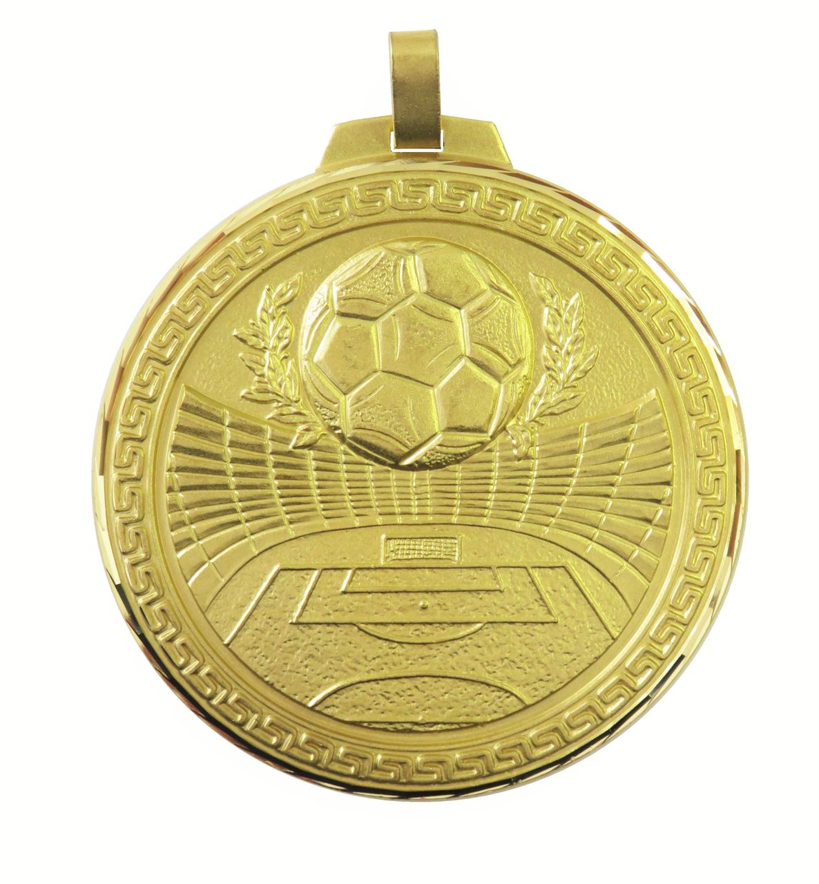Gold Faceted Football Stadium Medal (size: 60mm and 70mm) - 181F