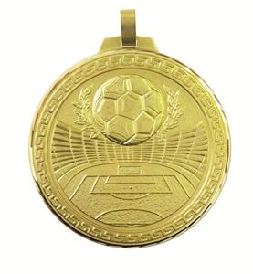 Faceted Football Stadium Medal