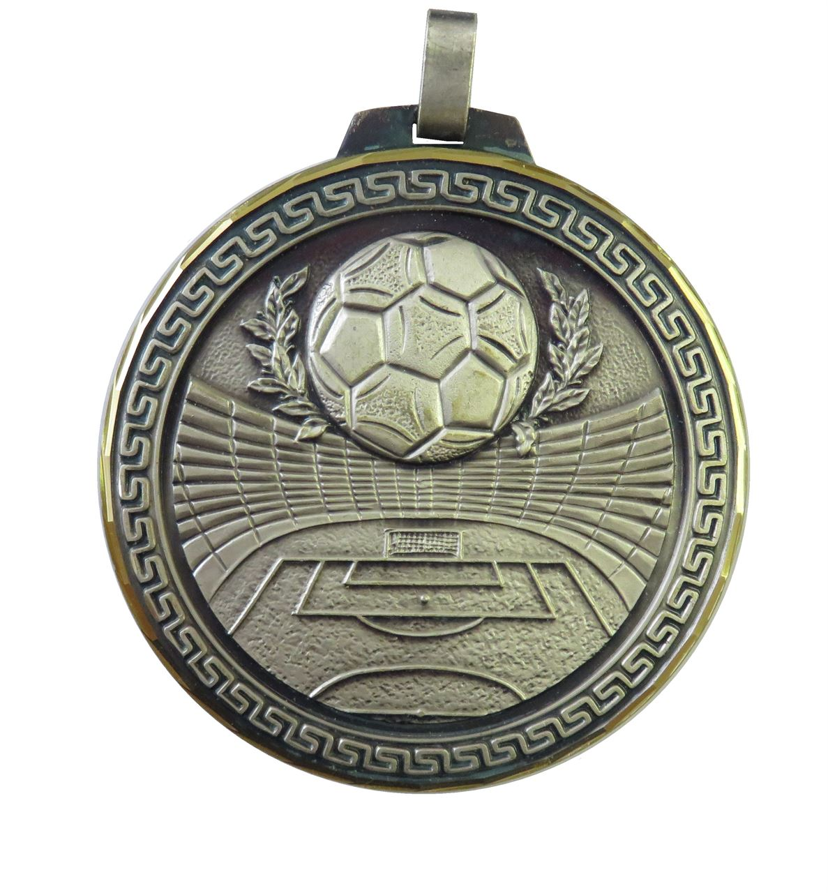 Silver Faceted Football Stadium Medal (size: 60mm and 70mm) - 181F