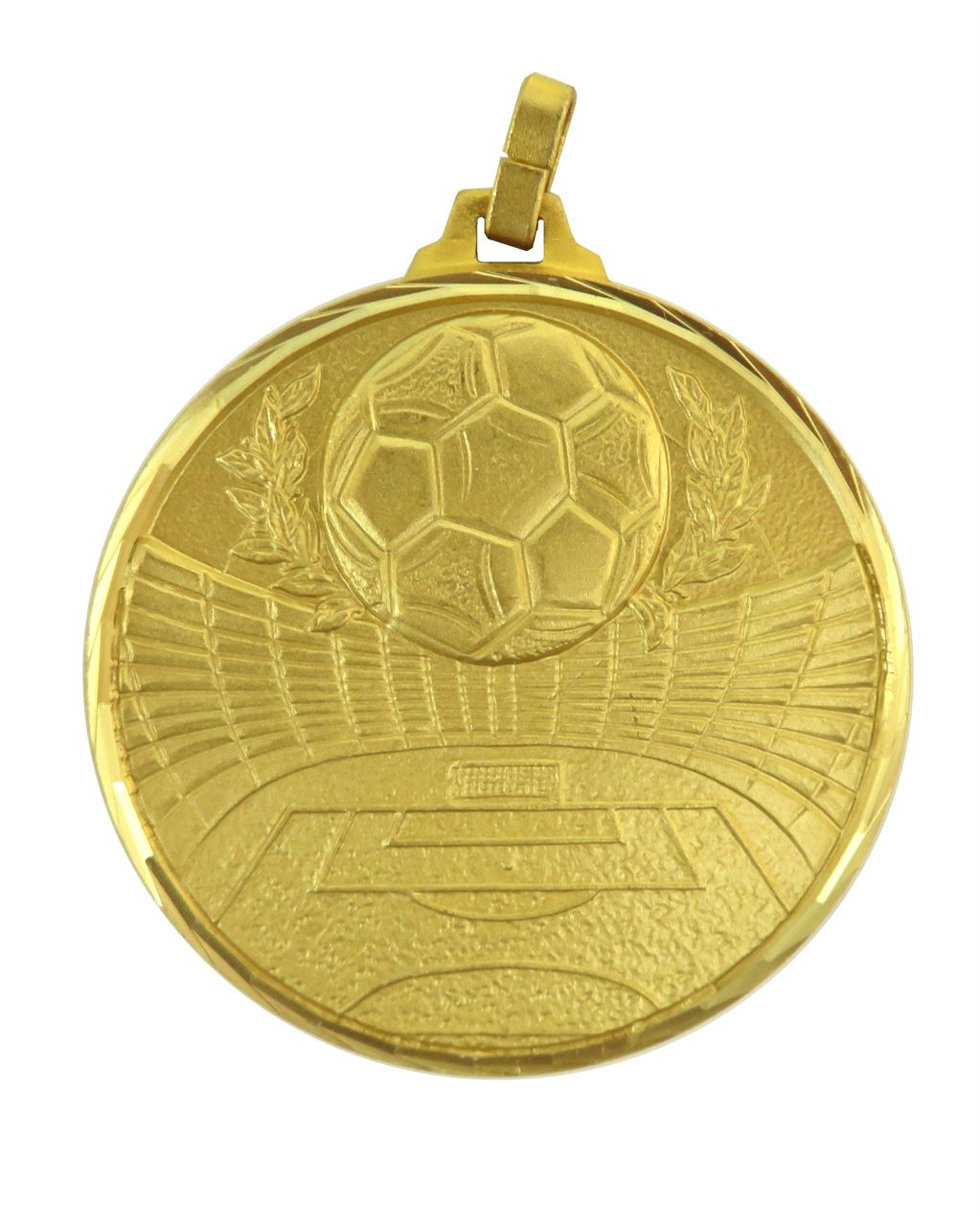 Gold Faceted Football Stadium Medal (size: 42mm and 52mm) - 181F