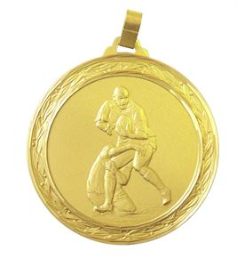 Faceted Rugby Medal