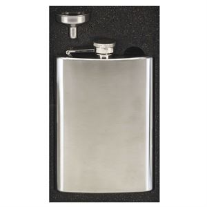 Vision Satin Polished Hip Flask - HF017