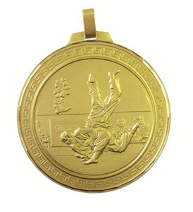 Gold Faceted Judo Medal (size: 70mm) - 124F