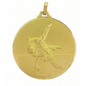 Gold Faceted Judo Medal (size: 42mm & 52mm) - 126F