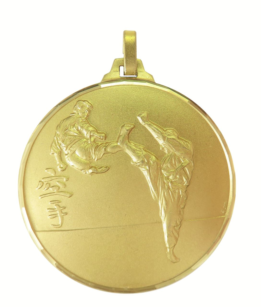 Gold Faceted Karate Medal (size: 52mm) - 127F