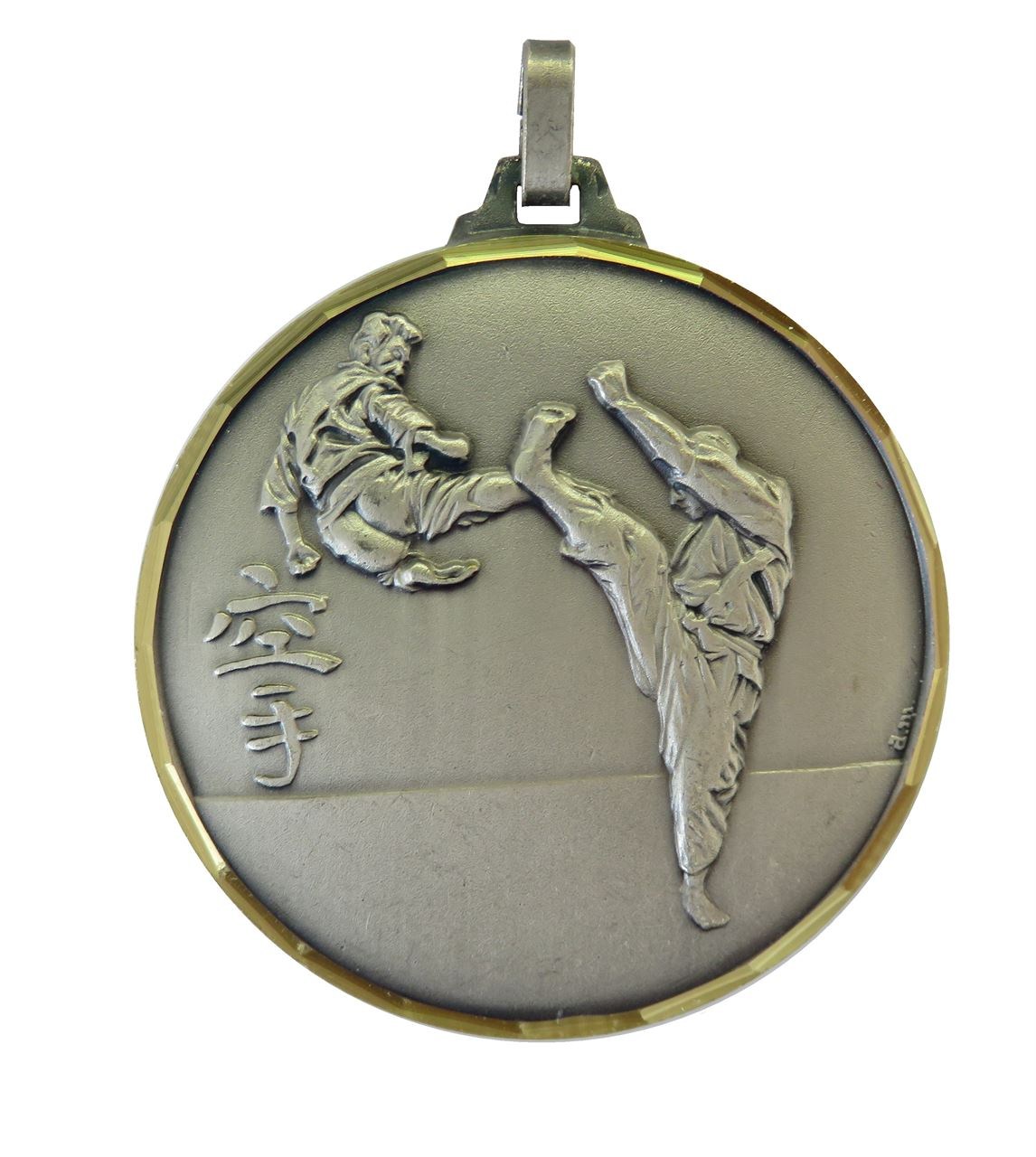 Silver Faceted Karate Medal (size: 52mm) - 127F