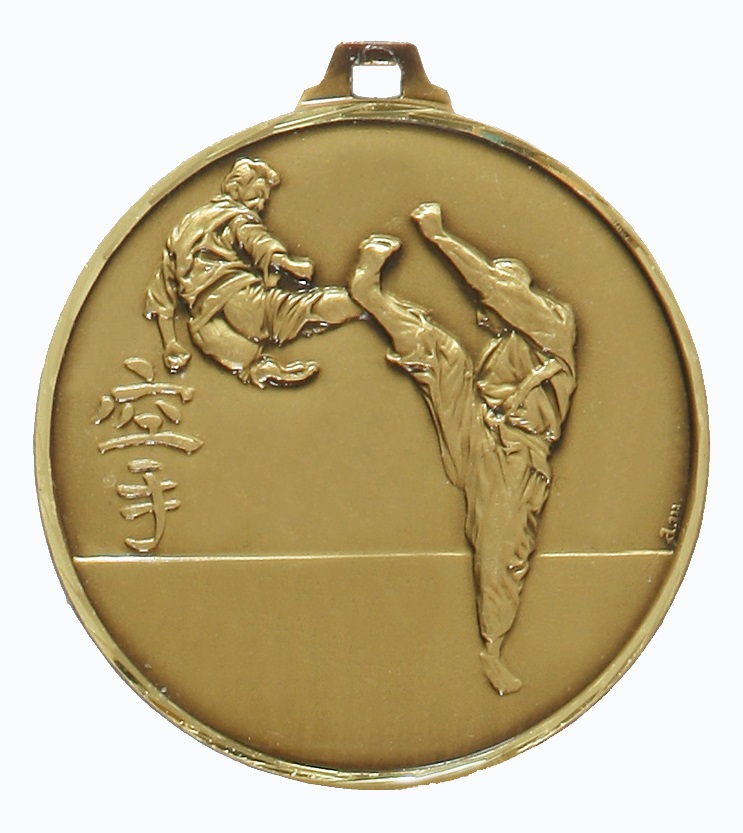 Bronze Faceted Karate Medal (size: 52mm) - 127F