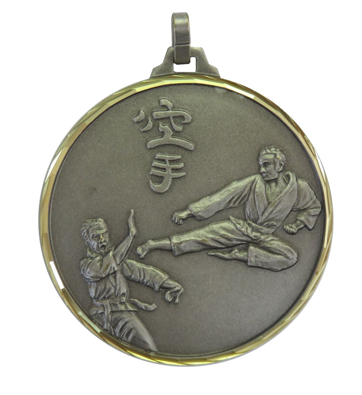 Silver Faceted Karate Medal (size: 42mm and 52mm) - 129F