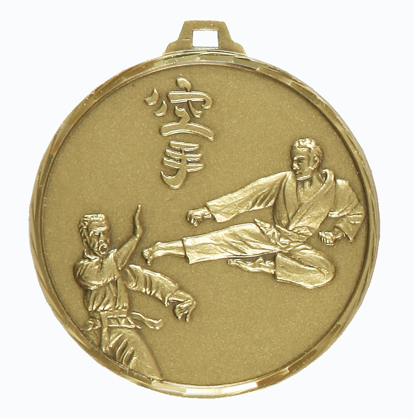Bronze Faceted Karate Medal (size: 42mm and 52mm) - 129F
