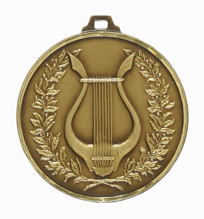 Gold Faceted Music Medal (size: 52mm) - 240F