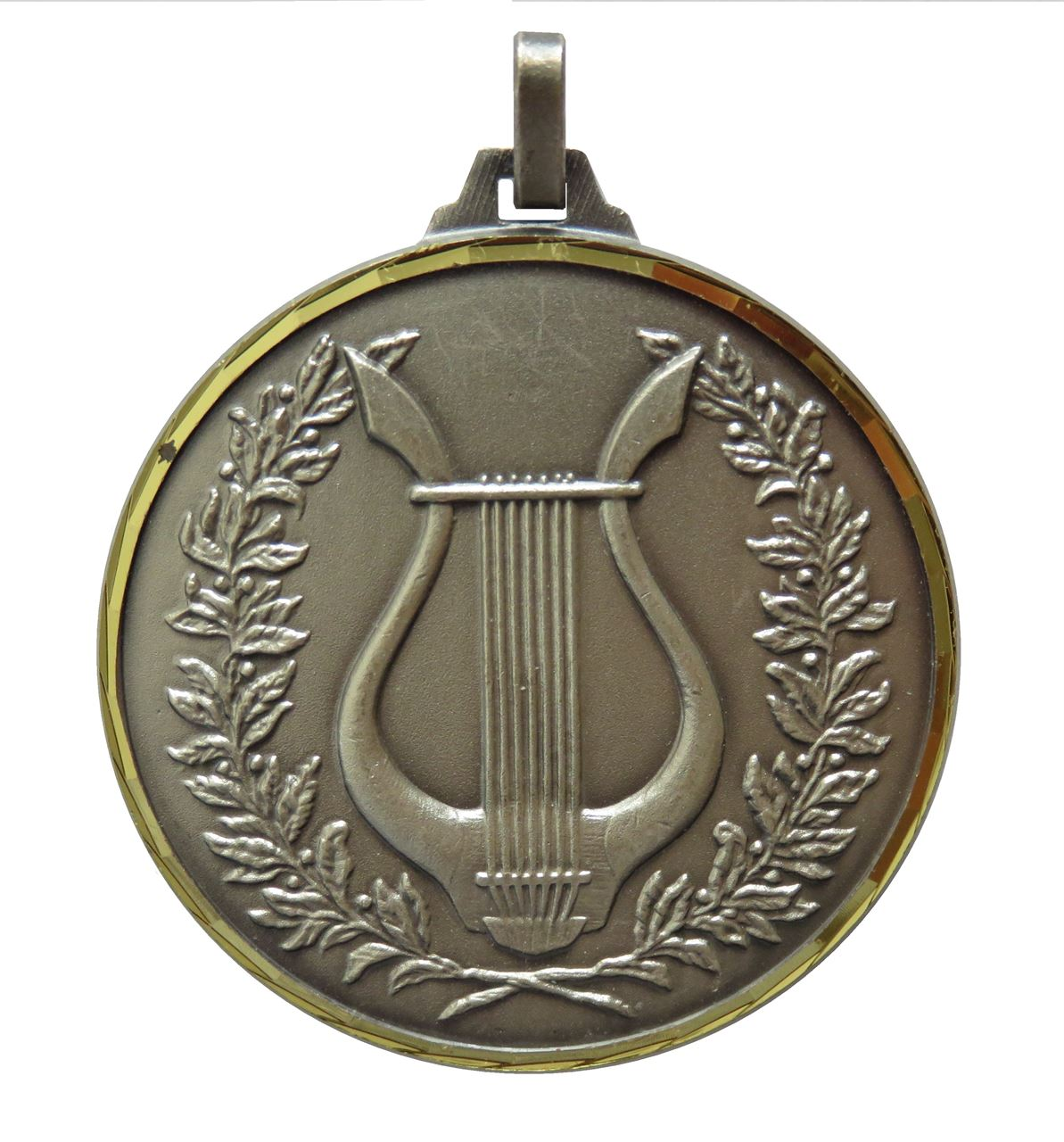Silver Faceted Music Medal (size: 52mm) - 240F
