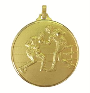 Gold Faceted Boxing Medal (size: 52mm) - 280F