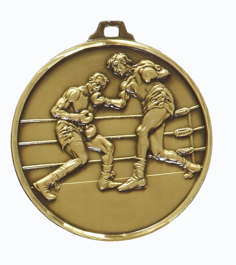 Bronze Faceted Boxing Medal (size: 52mm) - 280F