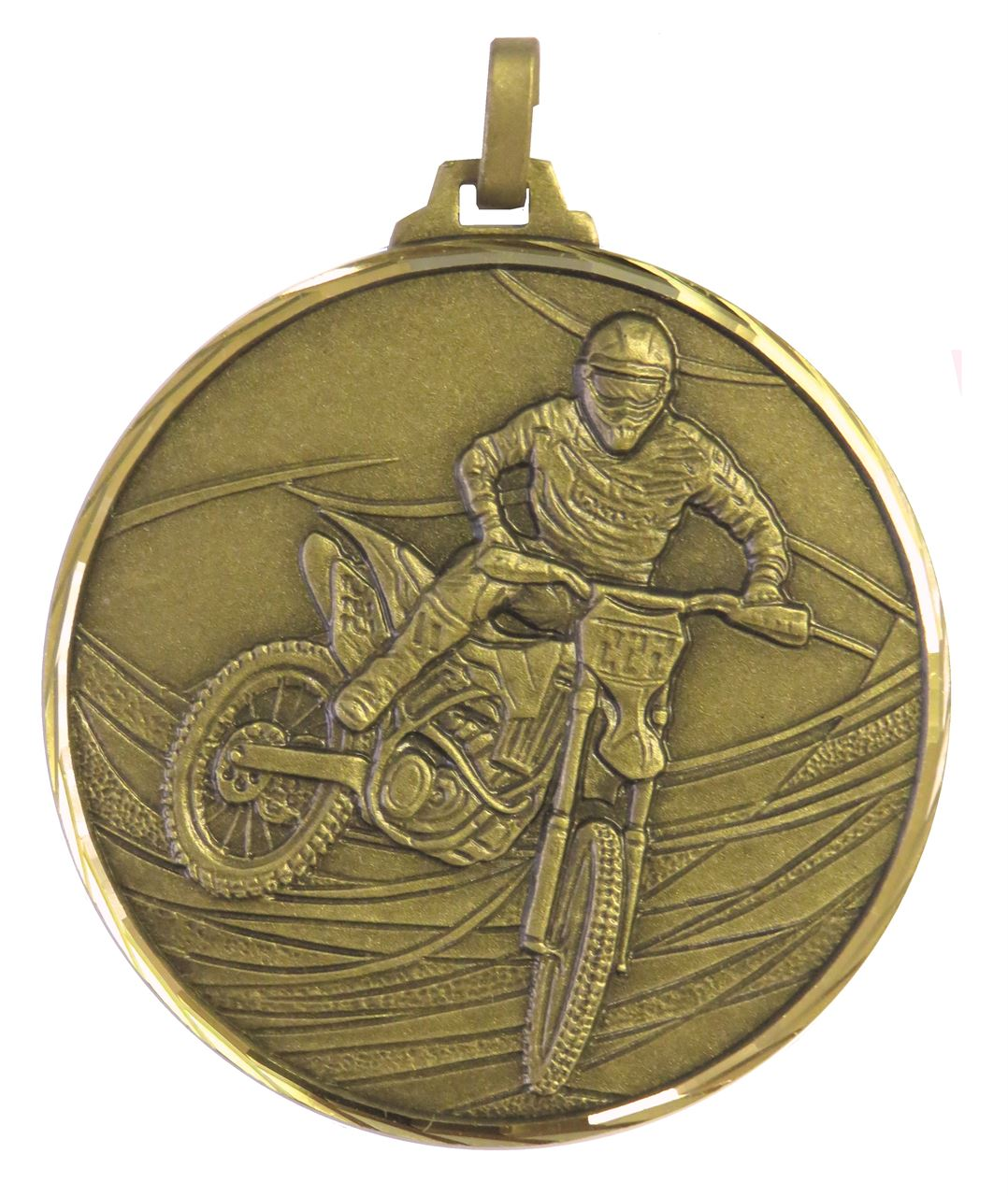 Bronze Faceted Motorcross Medal (size: 52mm) - 439F