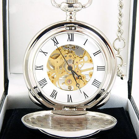 A.E. Williams Double Full Hunter Pocket Watch close up - PW014SK