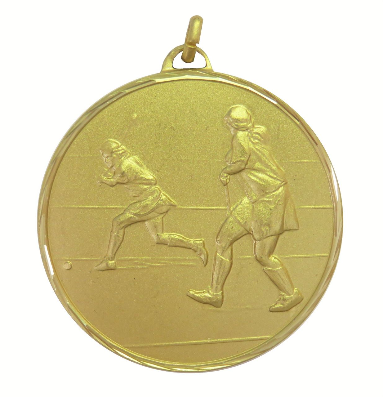 Gold Faceted Hockey Medal (size: 50mm) - 405F