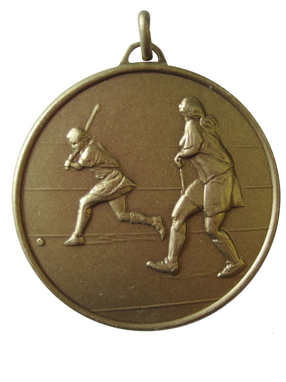 Bronze Faceted Hockey Medal (size: 50mm) - 405F