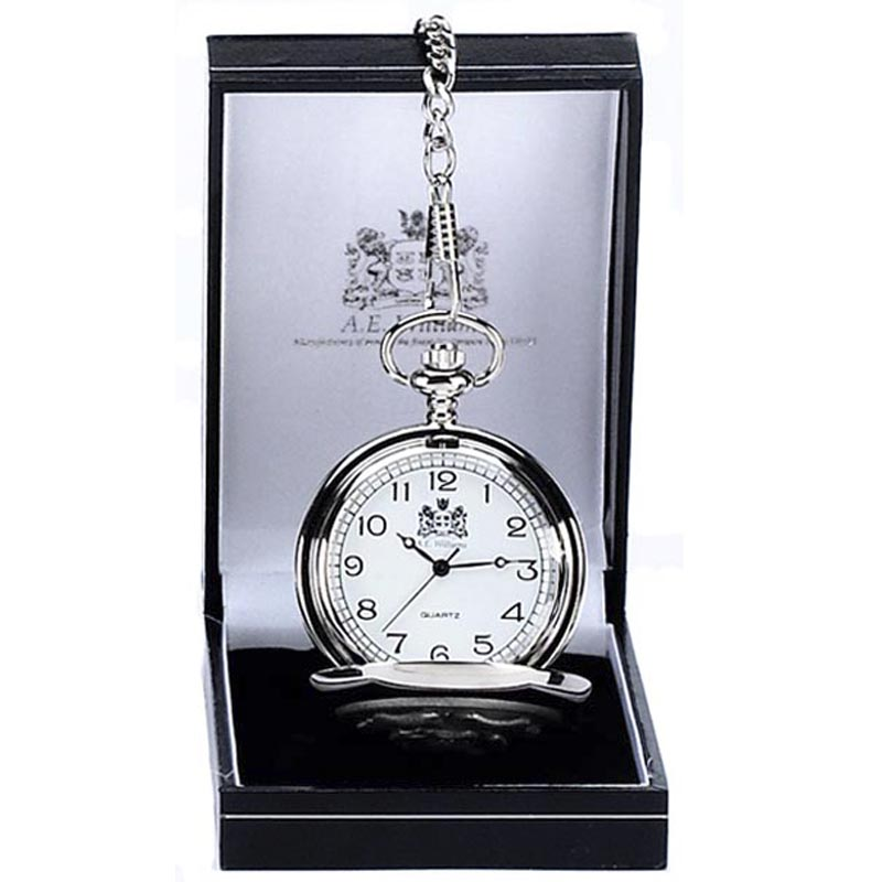 A.E. Williams Double Full Hunter Pocket Watch boxed - PW014