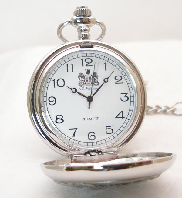 A.E. Williams Double Full Hunter Pocket Watch close up - PW014