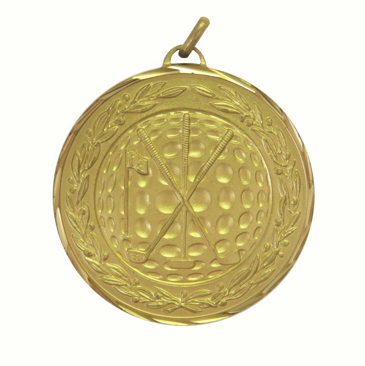Gold Premium Classic Golf Medal (size: 50mm) - 9654F