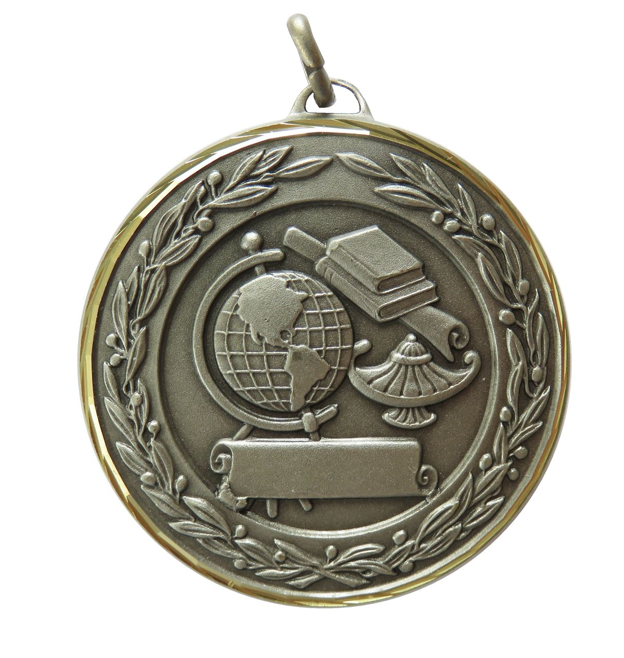 Silver Premium Classic Academic Medal (size: 50mm) - 9599F