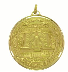 Gold Premium Classic Music Medal (size: 50mm) - 9602F