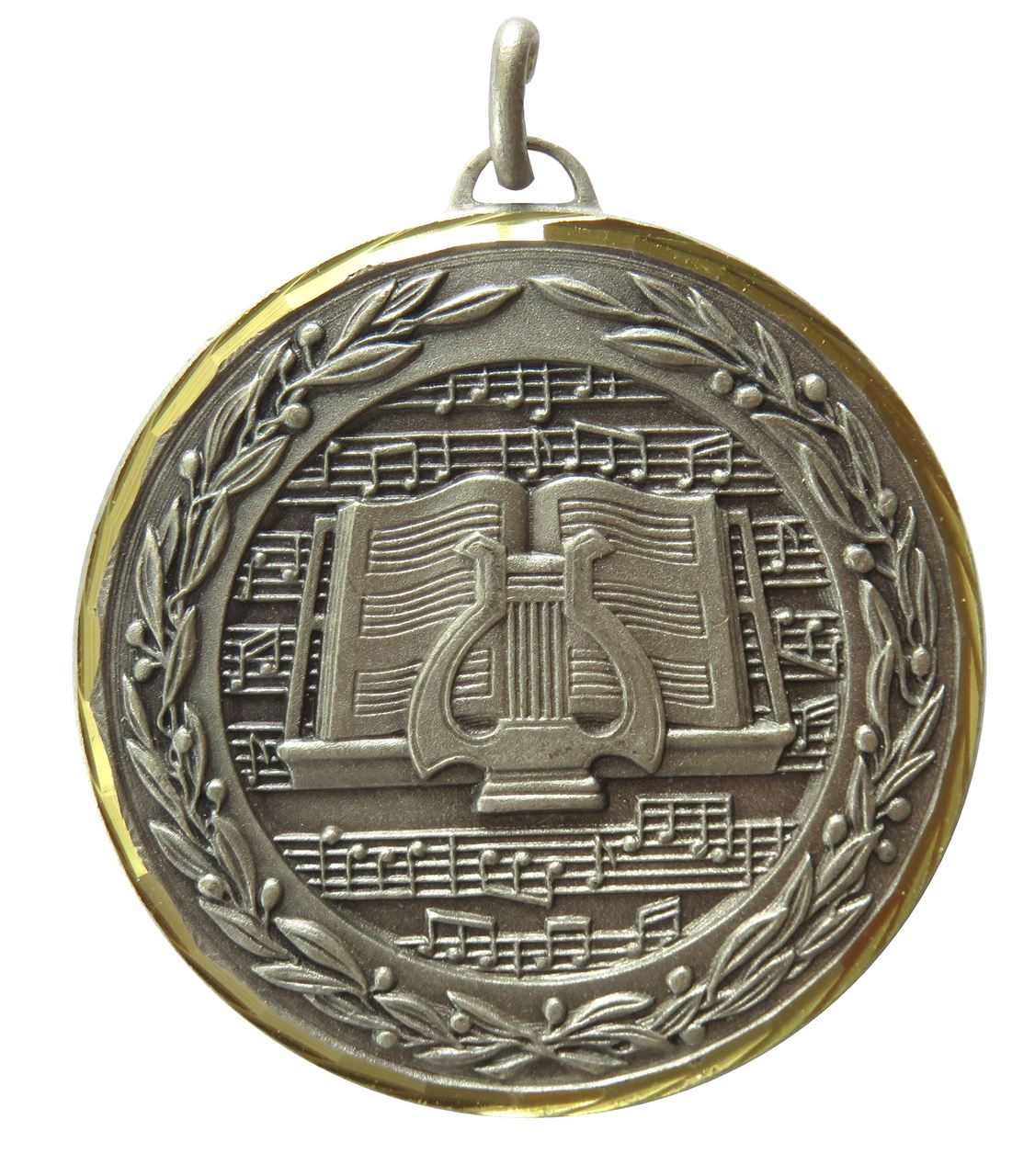 Silver Premium Classic Music Medal (size: 50mm) - 9602F