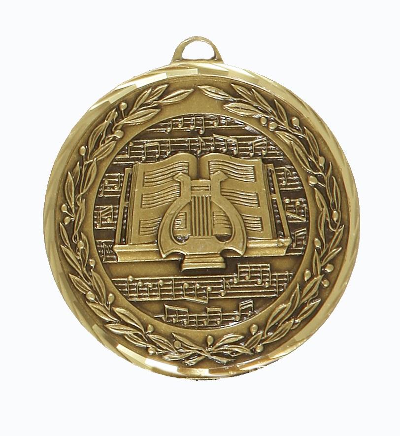 Bronze Premium Classic Music Medal (size: 50mm) - 9602F