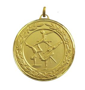 Gold Premium Classic Female Gymnastics Medal (size: 50mm) - 9792F