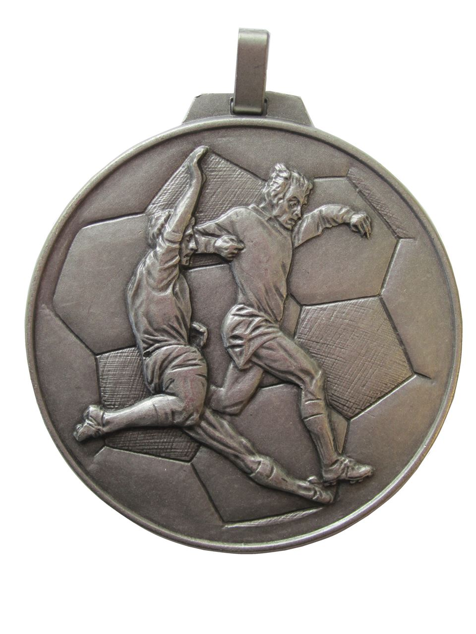 Silver Economy Football Medal (size: 70mm) - 176E