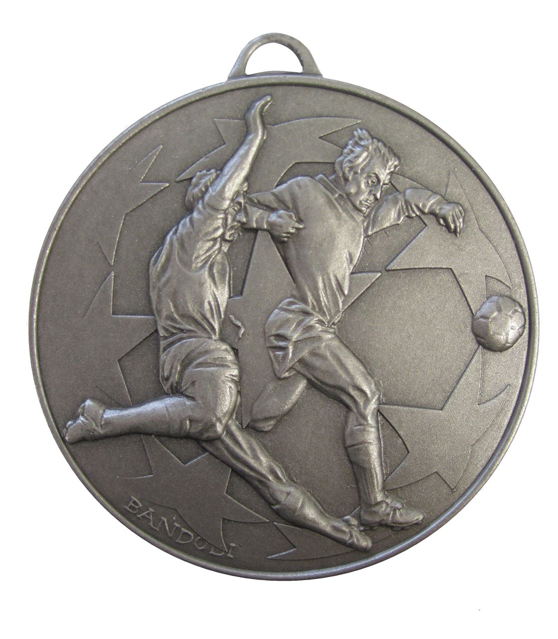 Silver Economy Football Stars Medal (size: 50mm) - 437E
