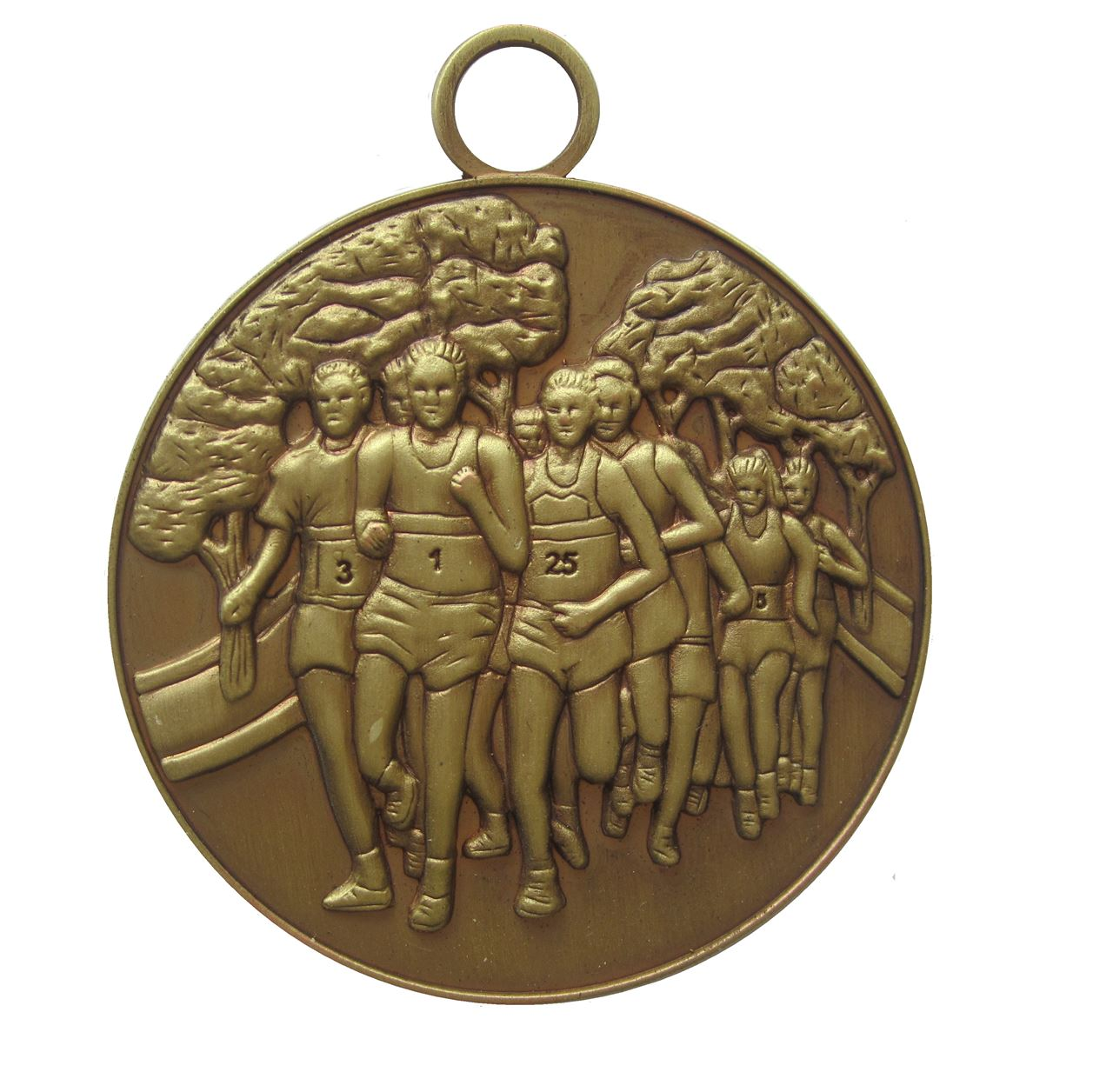 Antique Gold Economy Running Medal (size: 50mm) - MAR001E