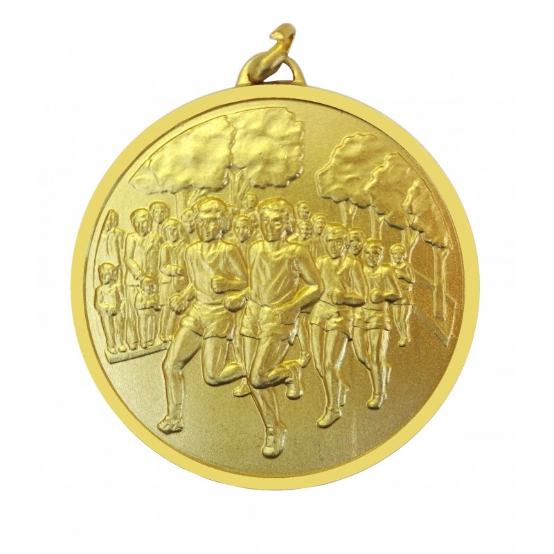 Gold Economy Runners Medal (size: 50mm) - 397E