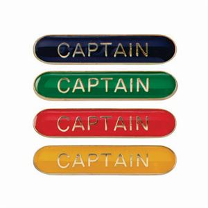 Captain Metal School Bar Badge