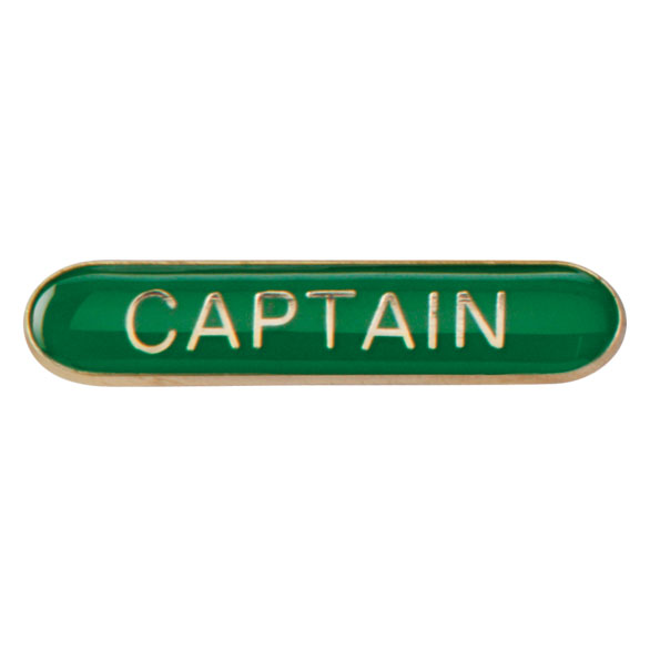 Captain Metal School Bar Badge - SB16100G