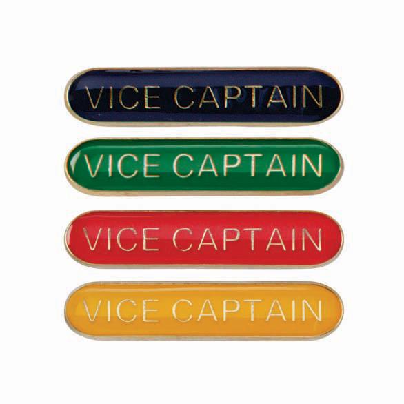 Red Vice Captain Enamel School Bar Badge