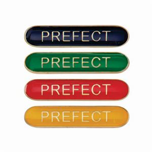 Prefect Metal School Bar Badge